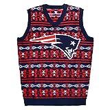 New England Patriots Aztec Print Ugly Sweater Vest Large