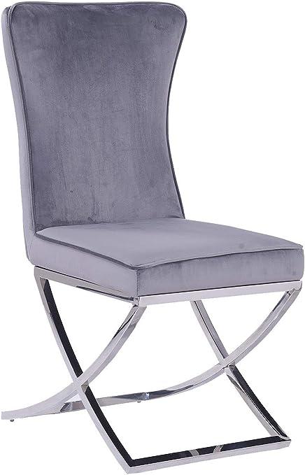 Comforium Lot de 2 chaises Design Dossier capitonné avec