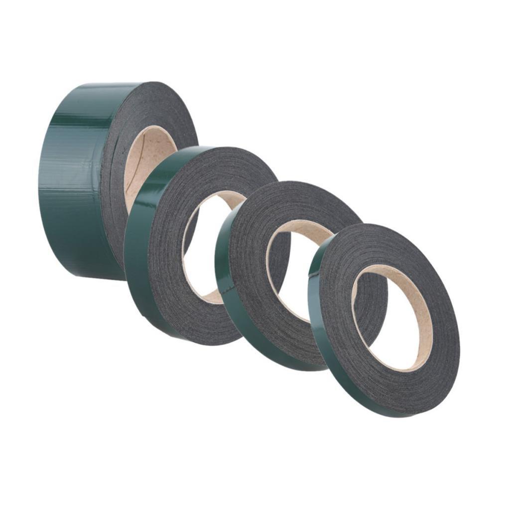 50mm Corte Cinta de Espuma S/ólida Autoadhesiva de Doble Cara Impermeable Coche Negro 12mm 12mm// 19mm// 25mm