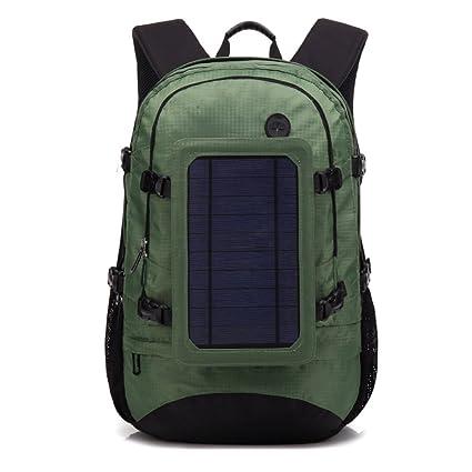 17327461ce77 Amazon.com : Business Solar Powered Backpack Men Women, Hiking Solar ...