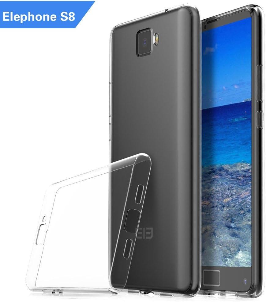 AOLANDER Elephone S8 Funda, silicona TPU transparente suave ...