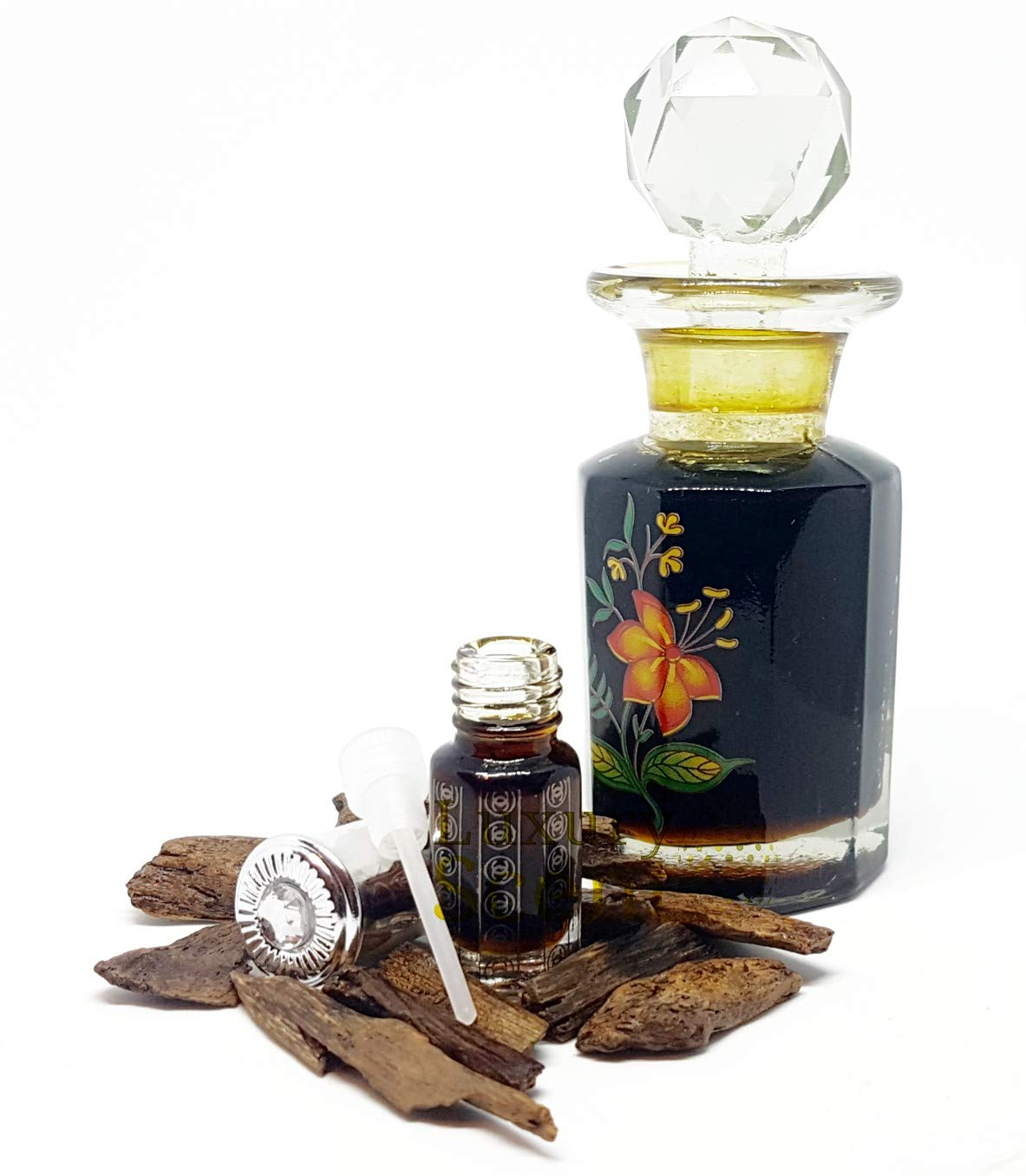 100% PURE INDIAN OUD PERFUME OIL BY LUXURY SCENT 3ML INDIAN AGARWOOD OIL PREMIUM QUALITY OUDH ATTAR