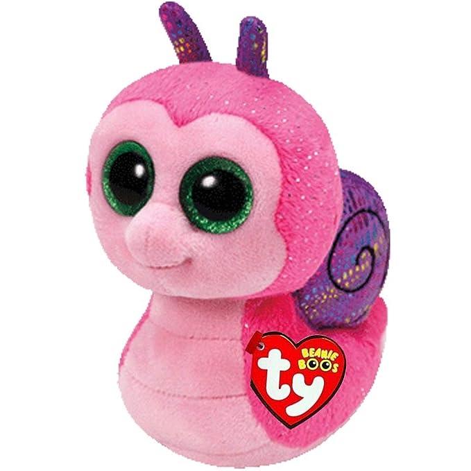 Amazon.com: JEWH Ty Beanie Boos - Plush Toy (Owl, Panther, Penguin, Dog, Giraffe, Cat, Raccoon, Sheep, Bat,...) Cattle Plush Animal (15cm) (Pink Snail): ...