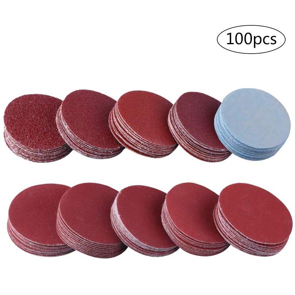 Sanding Pads 3 Sanding Discs Hook Loop 80//100//180//240//600//800//1000//1200//2000//3000 Assorted Grits Pack of 100