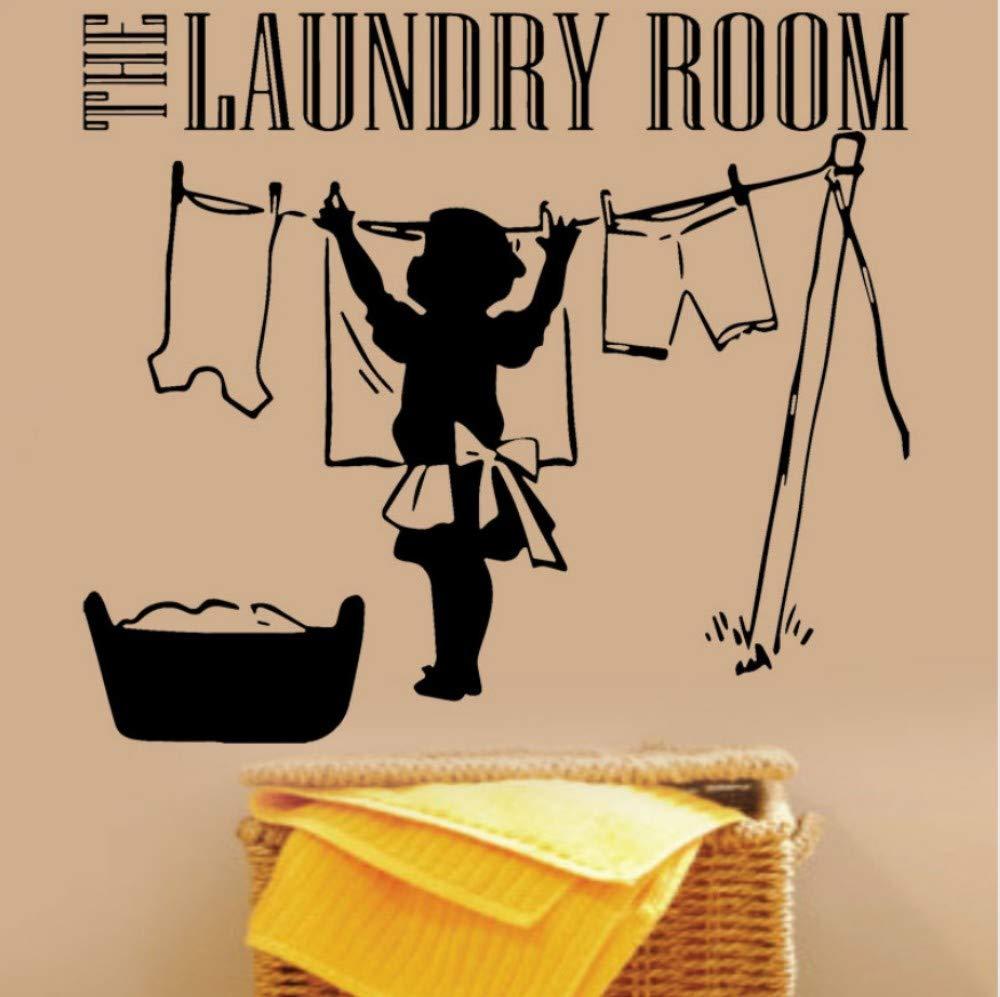 El lavadero de vinilo tatuajes de pared ropa madre lavandería ...