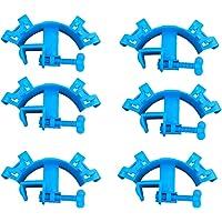 Generies - Soporte para manguera de acuario (6 unidades, plástico), color azul