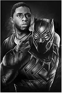 MoYisten Black Panther Posters Marvel Movie Superhero Paiting Canvas Prints for Boy's Bedroom Living Room Home Wall Decoration, Unframed