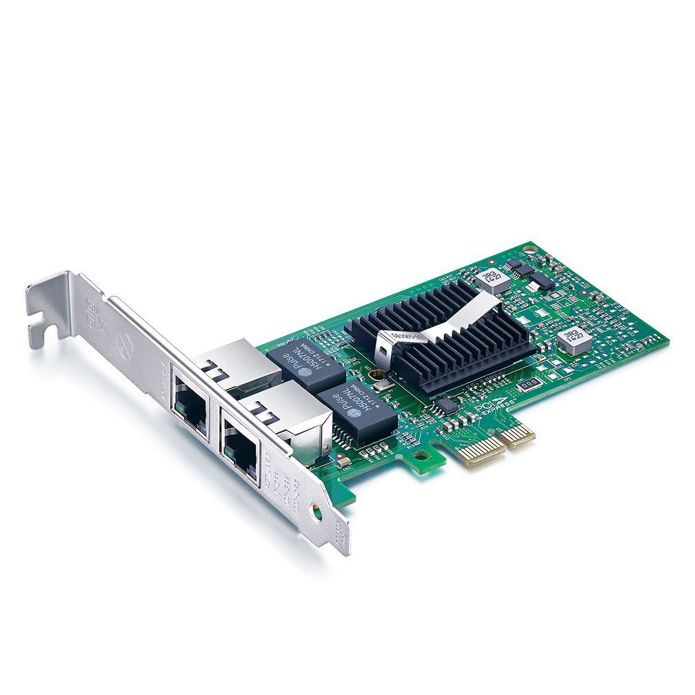 10Gtek for Intel 82576 Chip 1G Gigabit Ethernet Converged Network Adapter (NIC), Dual RJ45 Copper Ports, PCI Express 2.0 X1, Same as E1G42ET