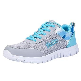 Mujer Gimnasia Ligero Sneakers Zapatillas,JiaMeng Zapatos Casuales de Moda Zapatos para Caminar al Aire Libre Pisos Zapato Calzado Deportivo: Amazon.es: ...