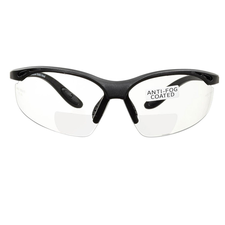 voltX 'CONSTRUCTOR' (TRANSPARENTE dioptría +1.5) Gafas de Seguridad de Lectura BIFOCALES que cumplen con la certificación CE EN166F / Gafas para Ciclismo incluye cuerda de seguridad - Reading Safety G