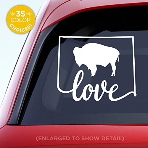 Amazoncom Wyoming State Love Decal With Stylized Wyoming Flag In