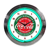 Neonetics Home Indoor Restaurant Kitchen Decorative Coca-Cola Evergreen Neon Wall Clock