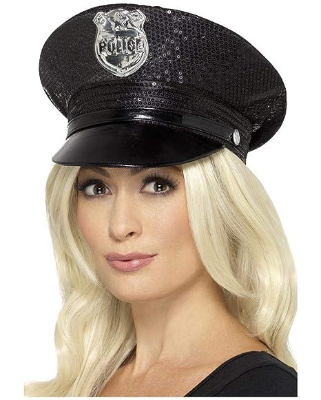 sombrero de policía atractivo con lentejuelas  Amazon.es  Juguetes y ... d1501f7b6a5