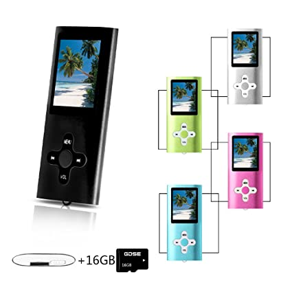 Amazon.com: Goldenseller Mp3 / Mp4 Player With 16GB Micro SD Card ...