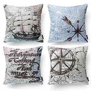 61C52FWfWuL._SS300_ 100+ Nautical Pillows & Nautical Pillow Covers