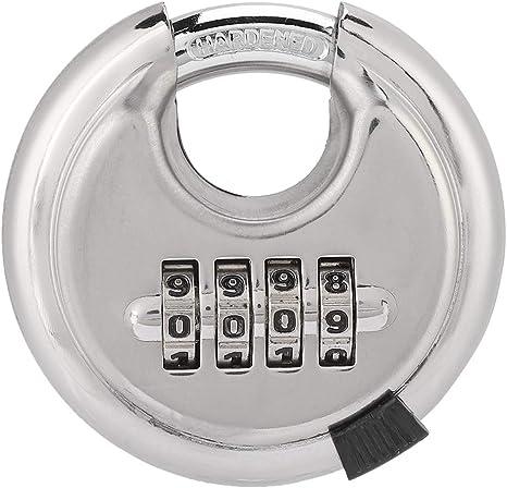Silverline Acier Inoxydable 926157 Combinaison Disque Cadenas à 4 chiffres 70 mm