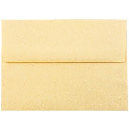 amazon com jam paper a6 parchment invitation envelopes 4 3 4 x 6