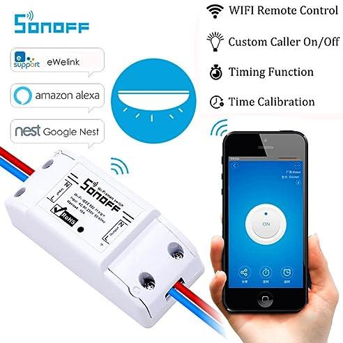 Jaminy Sonoff Smart Home WiFi Funkschalter Modul Für Apple Für Android APP  Control