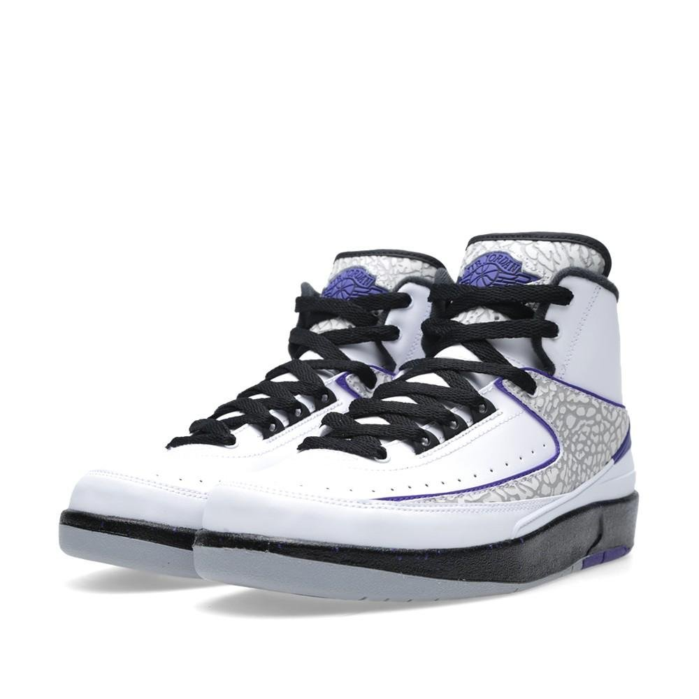 finest selection 62f1a c15e1 NIKE air Jordan 2 Retro BG hi top Trainers 395718 Sneakers Shoes (UK 5.5 us  6Y EU 38.5, White Dark Concord Black Wolf Grey 153)