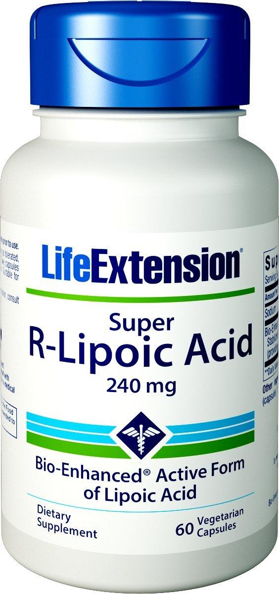 Life Extension Super R-Lipoic Acid, 240mg, 60 Vegetarian Capsules