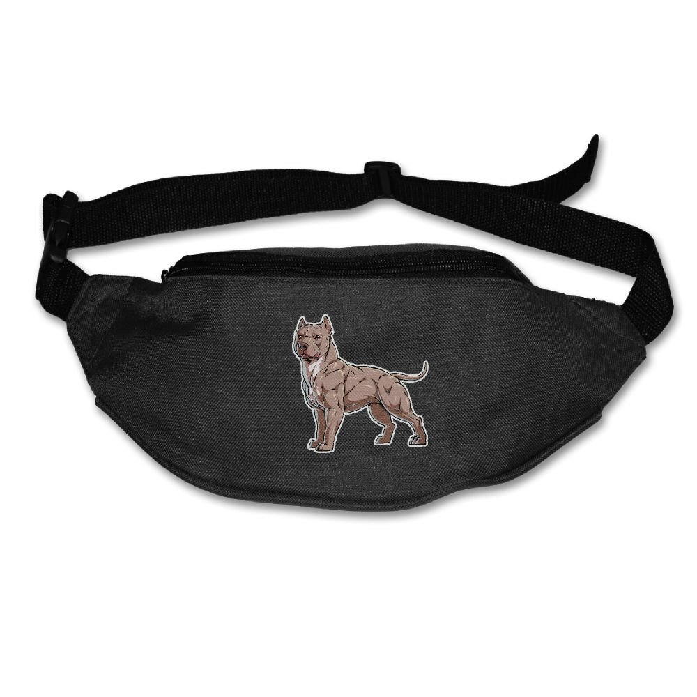 Unisex Pockets Pitbull Dog Fanny Pack Waist / Bum Bag Adjustable Belt Bags Running Cycling Fishing Sport Waist Bags Black outlet
