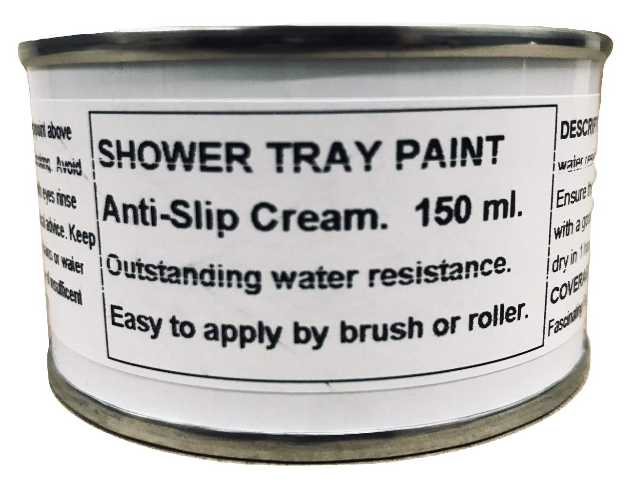 1 x 150ml Cream Anti Slip Shower Tray And Bath Paint Fascinating Finishes Ltd
