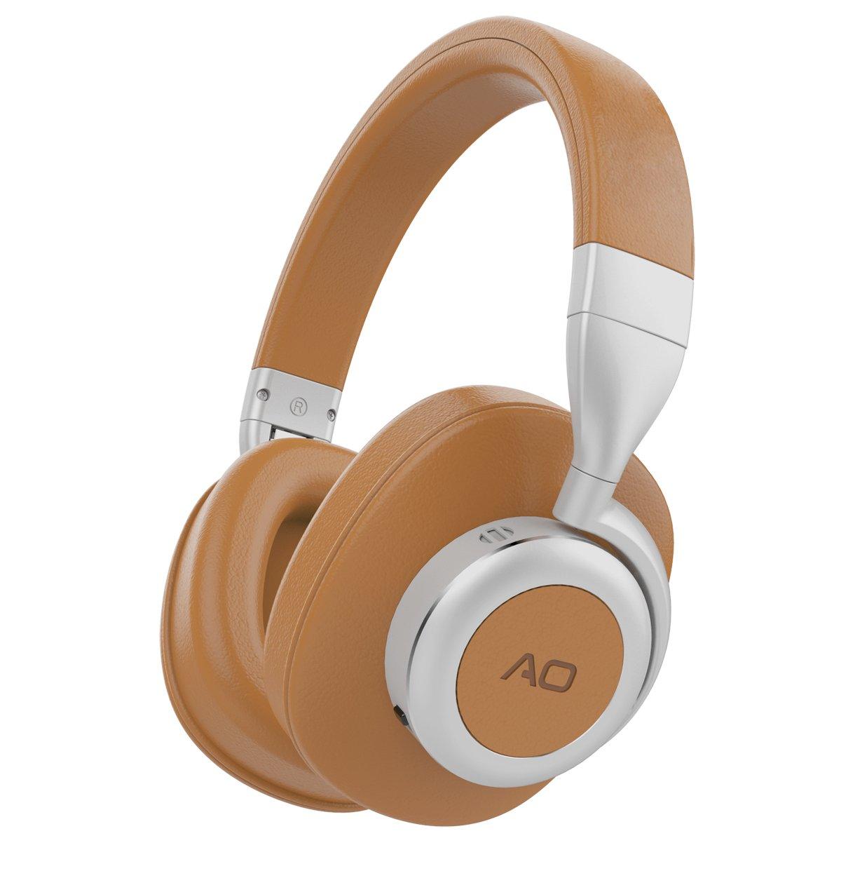 Auriculares AO Bluetooth Inalambrico con Cancelacion de Ruido Activa Technology- M6 … (Brown)