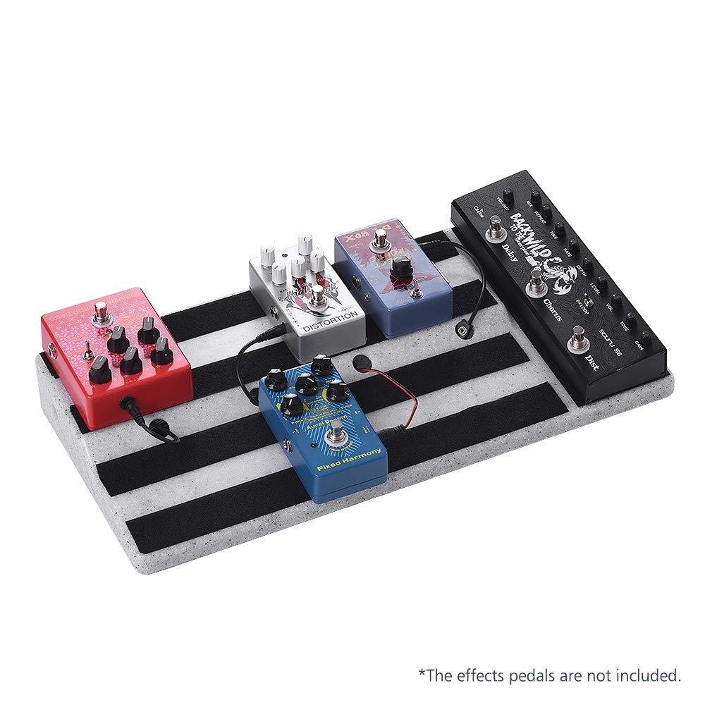 Kalaok Gro/ße Gr/ö/ße Gitarreneffekte Pedal Board Robuste PE Kunststoff Gitarre Pedalboard Fall mit Klebeband Gitarre Pedale Zubeh/ör