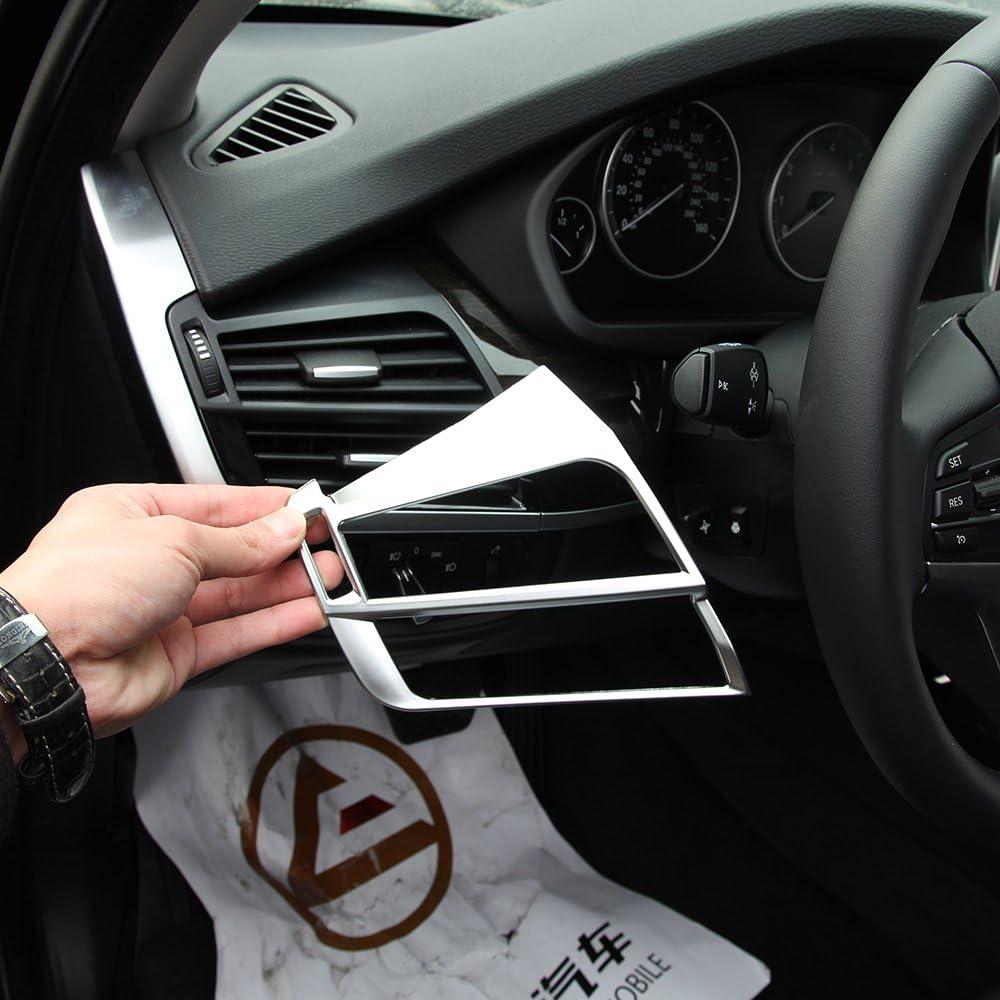 Abs Matt Silber Klimaanlage Auslass Entlüftungsrahmen Verkleidung Für X5 F15 X6 F16 2014 2015 Zubehör Linkslenker Auto