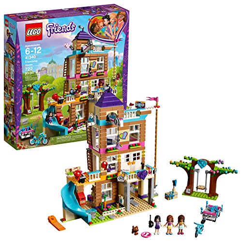 LEGO Friends Friendship House 41340 Kids Building Set with Mini-Doll Figures, Popular Toy and Gift for Girls (722 - Piece Figure 9 Set