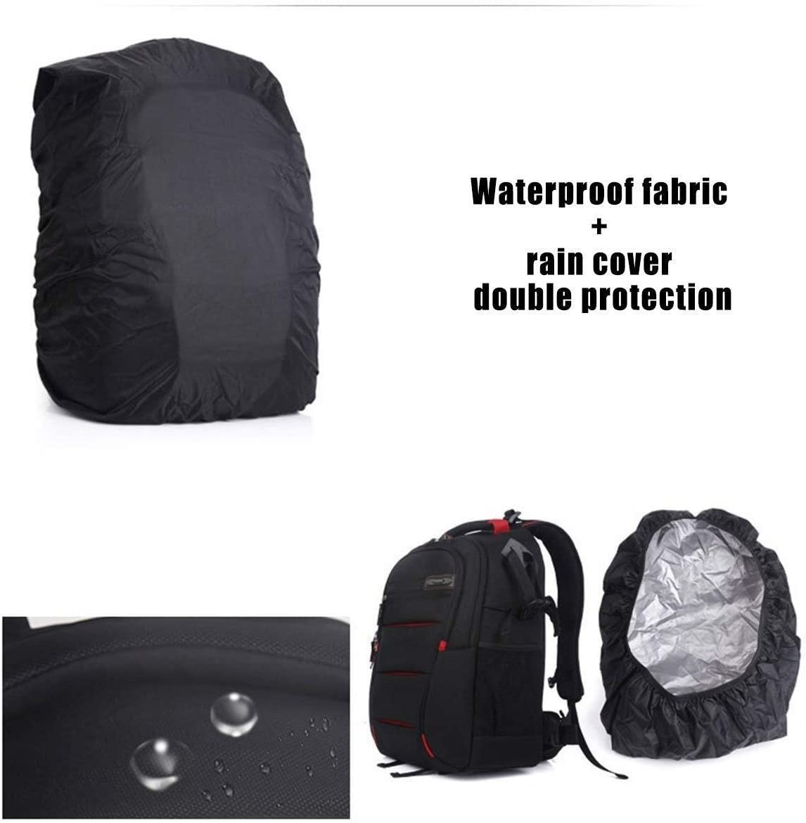 Red Versatile Size : L Green Interior Zhengtufuzhuang Classic Black Professional SLR Camera Backpack Men and Women Large-Capacity Anti-Theft Camera Bag Camera Backpack Tripod and Laptop