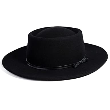 523db048 Jeff & Aimy Womens 100% Wool Felt Hat Winter Panama Fedora Pork Pie Church  Derby