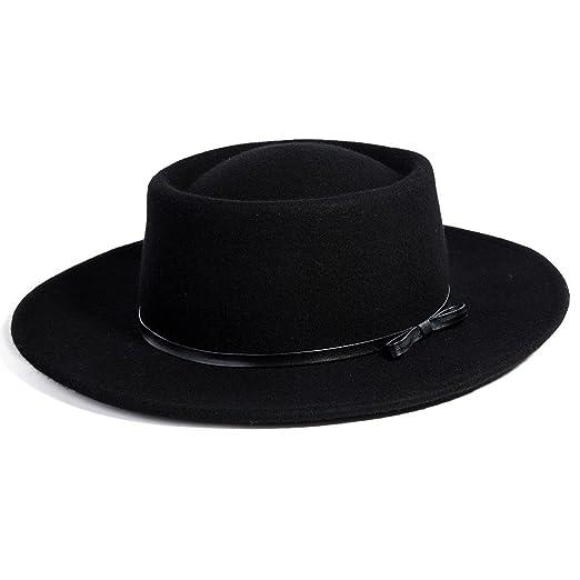 9dd8e34b2fc Jeff   Aimy Womens 100% Wool Felt Hat Winter Panama Fedora Pork Pie Church  Derby