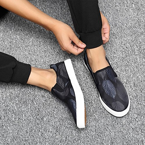 Zapatos Gray al libre Ejercicio lona para HUAN hombre Zapatos de para casuales hombres de planos Mocasines deporte Alpargatas Zapatillas aire BHwPfqvwY
