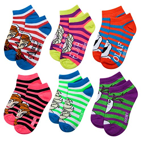 Frozen Girls 6 pk Ankle Socks