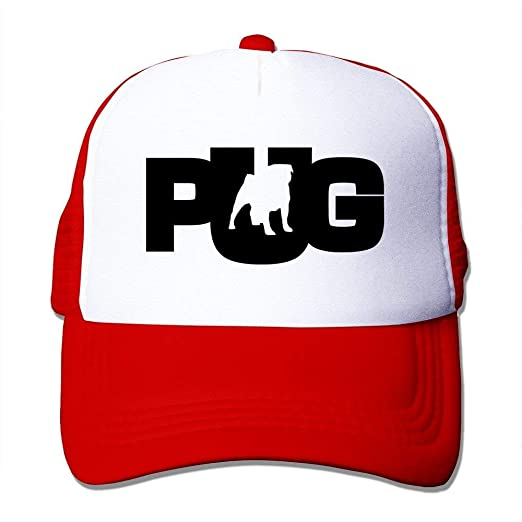 Mallory Texhood Pug Dog.PNG Geek Snapback Hats Caps One Size Red at ... 680d33a488f