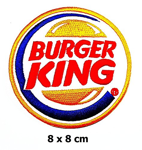 burger king foods patch Iron on Logo Vest Jacket cap Hoodie Backpack Patch Iron On/sew on patch (Burger King Foods)