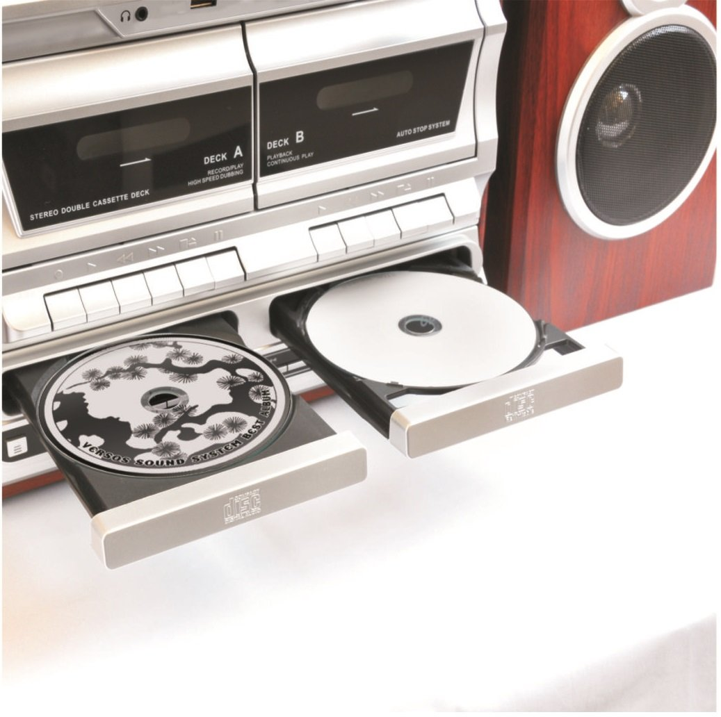 Amazon.com: TechPlay ODCR2110, High Power (30W RMS)Retro Classic Turntable,  W/ CD Recorder, Cassette Recorder U0026 Wireless Bluetooth Connection.