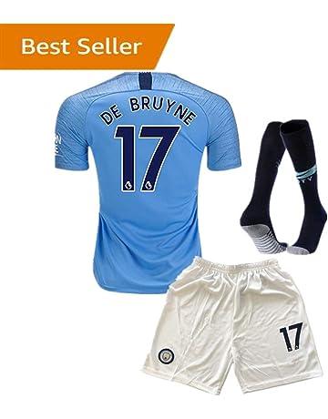 17 DE BRUYNE Manchester City Kids Youth Home Boys Soccer Jersey   Shorts   20a624057