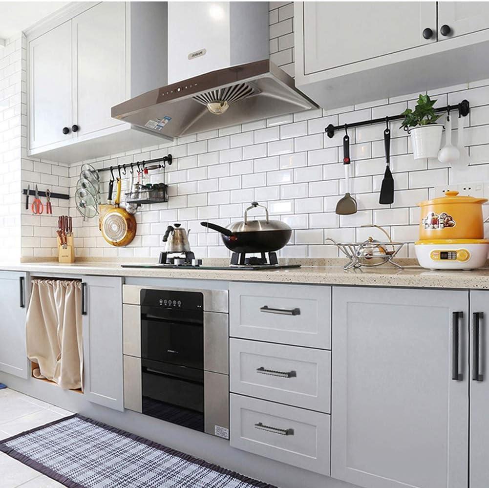 para Dormitorio Cocina de Oficina 2 Colores Perillas Redondas de Aleaci/ón de Muebles Perillas de Metal con Tornillos 10 Piezas Pomo de Armario de Aluminio Perillas de Cajones