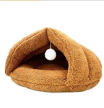 njhswlti Saco de Dormir de Invierno cálido para Mascotas Perro pequeño, Color Caramelo.: Amazon.es: Hogar