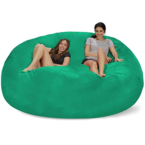 Fantastic Chill Sack Bean Bag Microsuede Aqua Marine Caraccident5 Cool Chair Designs And Ideas Caraccident5Info