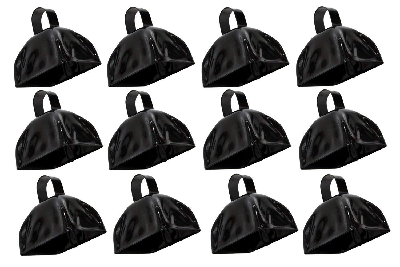 Rhode Island Novelty 3'' Metal Black Cowbells | 12 Pack by Rhode Island Novelty