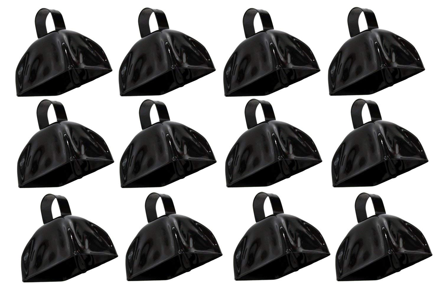 Rhode Island Novelty 3 Inch Black Metal Cowbells One Dozen