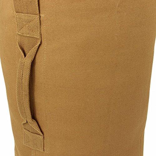 10T TLC Duffle L Bag 80L XL Seesack 90x30x30cm robuste Reisetasche mit Schultergurt Canvas Rucksack Leinentasche aus 100% Baumwolle 625g/m² Umhängetasche Schultertasche Toploader mit Tragegriff