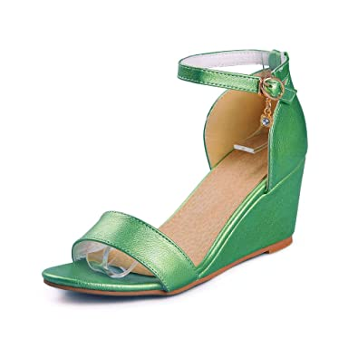 d709689c61cb80 Meotina Women Sandals Summer High Heels Open Toe Wedge Heel Crystal Ladies  Shoes (US4