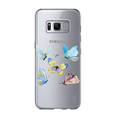 Caler Coque Samsung S8 Plus, Coque Galaxy S8 Plus Silicone, AIR CUSHION Crystal Clear TPU Silicone Transparent Housse Étui Coque de Protection bumper Case Pour Samsung Galaxy S8 Plus (Ballon)