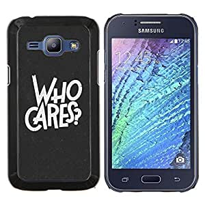 - INSPIRATIONAL LET WHO GO QUOTE SLOGAN CARES - Caja del tel¨¦fono delgado Guardia Armor- For Samsung Galaxy J1 J100 J100H Devil Case