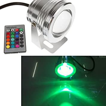 10w Led Rgb Flash Fountain Pool Pond Light Underwater Fish Tank Lamp Ip68 12v Led Lamps