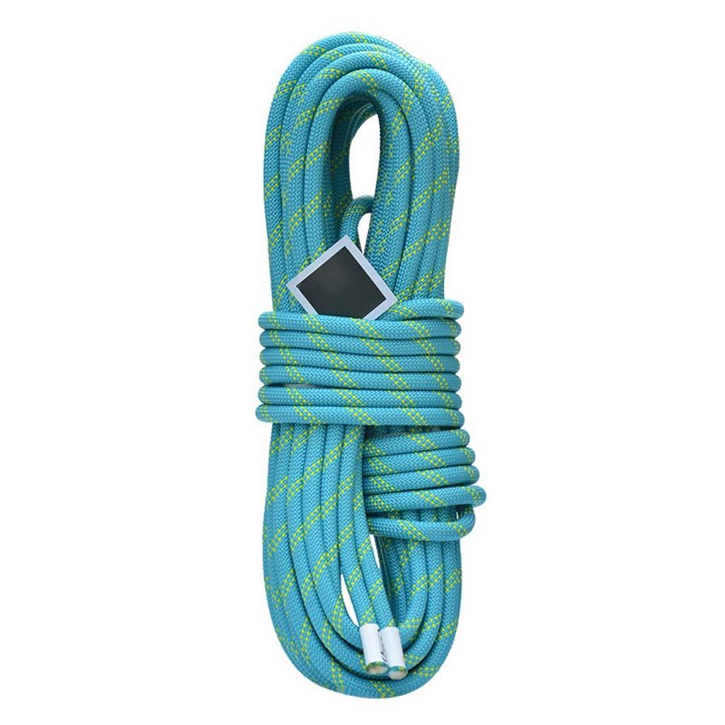 Bleu DLYDSS Corde D'escalade, Corde D'escalade Statique, Corde De Sécurité Extérieure, Matériau En Nylon, Résistant à L'usure, 10.5mm, Escalade En Plein Air, Corde De Rappel, équipement De Largage De C&acir